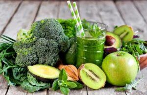 овощи и фрукты зеленого цвета