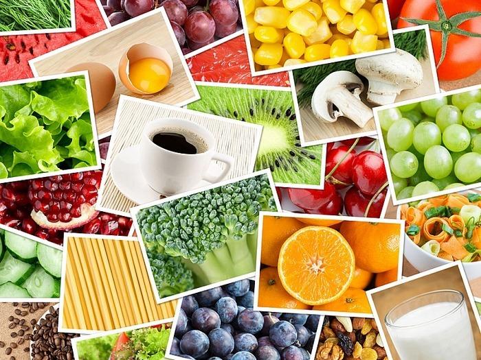 продукты разного цвета